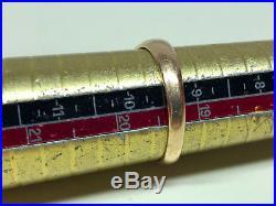 Old Vtg Estate 14K Yellow Gold Men's Ring Minor's Cut Diamond Sz 9 1/4 Jewelry