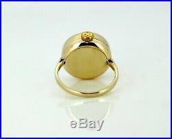 Omega Vintage 9K Yellow Gold Manual Winding Ring Watch, Birmingham 1961