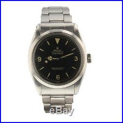 Rolex Vintage Explorer Chapter Ring Steel Automatic Watch Gilt Dial 1016