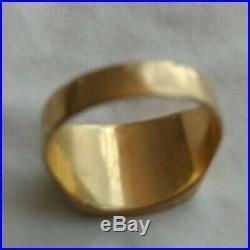SALE! Vintage 10K 4.66 Grams Yellow Gold Black Onyx Diamond Men Signet Ring 8.5