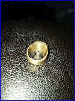 Solid 18 k gold mens ring vintage