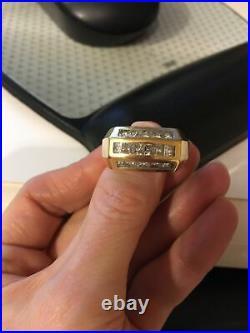 Striking Men's Vintage 18k Gold/diamond Ring 15.1g, 2.25c Replacement Cost $6995