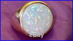Stunning Vintage 10k Gold & Opal Ring Mens Ladies Large Stone Heavy 12.2 G Scrap