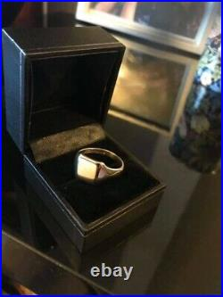 Stunning Vintage Hm WW&S Bham 1959 Solid 9ct Gold Signet Ring Mens Pinky Sz U