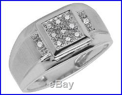 Stunning Vintage White Gold Finish Mens Lab Diamond Pinky Wedding Ring 1.10 Ct