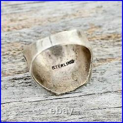 Trading Post Cowboy Ring Mens Size 8.5 Vintage RRL Sterling Silver Cactus