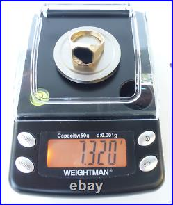 VINTAGE 14K Plumb Gold / Black Onyx & Diamonds Men's Ring Sz 11.5 Weight 7.32g