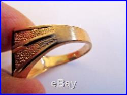 VINTAGE 50'S ESTATE 10K YELLOW GOLD BLACK ONYX MEN'S RING SIZE 9.25 4.23g