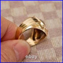 VINTAGE MEN'S (circa 1940's) 10K YELLOW GOLD DIAMOND & ONYX RING (size 10)