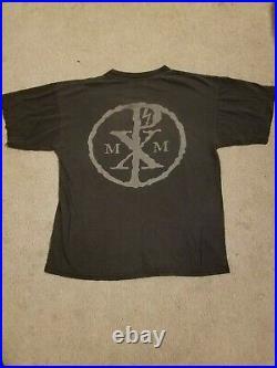 VINTAGE RARE MARILYN MANSON Shirt L 1997 halo group print winterland