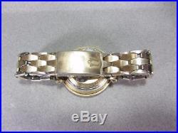 VTG Bulova Accutron Astronaut Men's Wristwatch Coffin Link Band 14k Bezel Ring