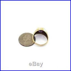 Vintage 10K Yellow Gold Purple Sapphire White Topaz Men's Ring Size 10
