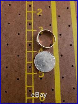 Vintage 10k Gold Natural Diamonds Mens Wedding Band Ring Sz 10
