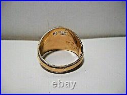 Vintage 10k Yellow Gold Balfour 1984 Winter Park High Men's Class Ring Size 13.5