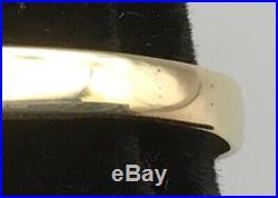 Vintage 10k Yellow & White Gold Carnelian Mens Signet Ring Sz 9.5
