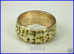 Vintage 14K Gold Mens Infinity Wedding Band Ring with Gold Nuggets Sz 11 c1970s