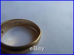 Vintage 14K Yellow Gold 5mm Comfort Fit Men Or Women Wedding Band Ring 4.83g
