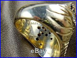 Vintage 14K Yellow Gold SIKH Turban Men's Ring With Diamonds Star Sapphire Ruby