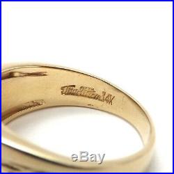 Vintage 14k Gold 1/3ctw Pavé Diamond Halo Mens Ring Size 9