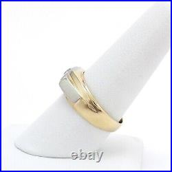 Vintage 14k Gold 3 Stone Old European Cut Diamond Mens Ring Unisex sz9