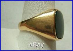 Vintage 14k Gold & Bloodstone Mens Ring Size 9.75-10