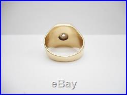 Vintage 14k Yellow Gold. 50 CTW Round Diamond Men's Band Ring #4019