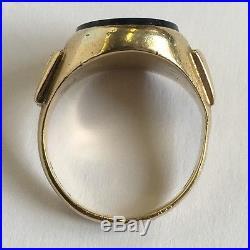 Vintage 18ct Yellow Gold Men's Bloodstone Pinky Signet Ring Size J 1/2 K