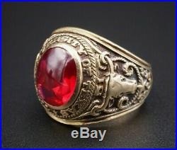 Vintage 1951 BBA Mens 10K University of Texas UT Class Ring Size 10 17g RG1824