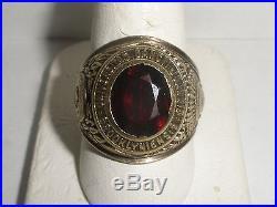 Vintage 1952 Saint John`s University 10k men`s ring & indian chief head size 10