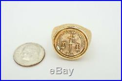 Vintage 1960s 14k Yellow Gold FBI 10 Year Service Award Mens Ring Size 8.75