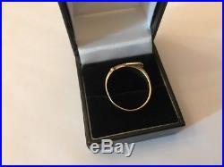 Vintage 1980s Hallmarked 9ct 9k Gold Mens Gents Heavy Buckle Ring Size T 6.1gm