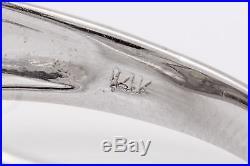 Vintage $4000.40ct Natural Alexandrite 14k White Gold Mens Ring Band 6g 9mm