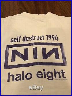 Vintage 90s 1994 Nine Inch Nails Halo Eight Self Destruct T-Shirt Mens Xl