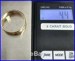 Vintage 9 ct Gold Celtic Knot Claddagh Ring Hallmarked Mans / Ladies