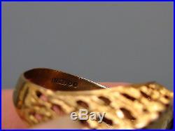 Vintage 9ct Gold Half Soverign Men's Ring Size 10