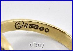 Vintage 9ct Gold Mens Carnelian Ring, UK Size U 1/2, U. S. Size 10 1/2, 1964