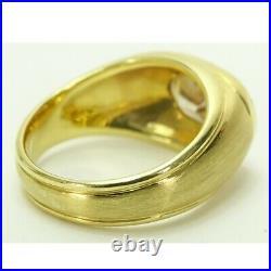 Vintage Approx. 3.25 Carat Natural Fancy Orangish Brown Diamond Men's Ring