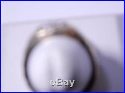 Vintage Art Deco Mens 10K Gold Ring Spinels Size 10.5 Weight 3.49 Grams Unique