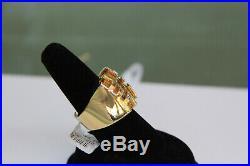 Vintage Cartier 18K Gold Mens Ring Size 59 / 8 Tiger's Eye Le Baiser du Dragon