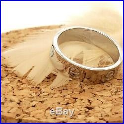 Vintage Cartier Love ring 18k white gold 6mm wedding band ring mens sz 11.5