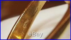Vintage Estate 10k Gold Ring Men's Black Onyx & Diamond Ring Band Signed Tha