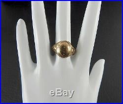 Vintage Estate Antique Victorian Ring Solid 10K Rose Gold Unisex Womens Mens 9