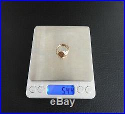 Vintage Estate Antique Victorian Signet Ring Solid 12K Rose Gold Mens 9.5