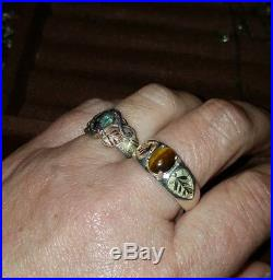 Vintage Estate Black Hills Gold Cats Eye Mens Ring Band Size 12