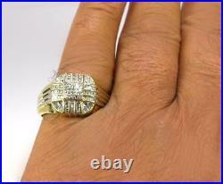 Vintage Estate Men's 0.50CT Diamond Cocktail Ring 10K Yellow Gold Size 12.25