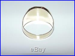 Vintage Estate Mens 14K Yellow Gold 585 Signet Statement Ring US Size 9.25 UK S