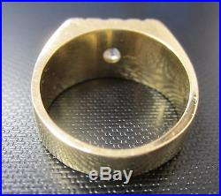 Vintage European Cut Diamond and 14k Gold Men's Ring With $3500 Appraisal