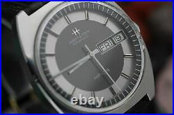 Vintage HAMILTON HF-36 Cal. 631 Hi-Beat Stainless Steel Chapter Ring Men's Watch