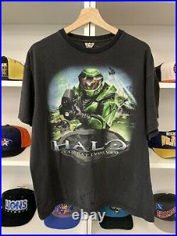 Vintage Halo Combat Evolved Shirt Sz XL Video Game 2000s XBOX Faded Delta