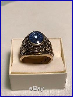 Vintage John Roberts 1973 10k Gold Jim Thorpe H. School Men's Ring Size 9.75-10
